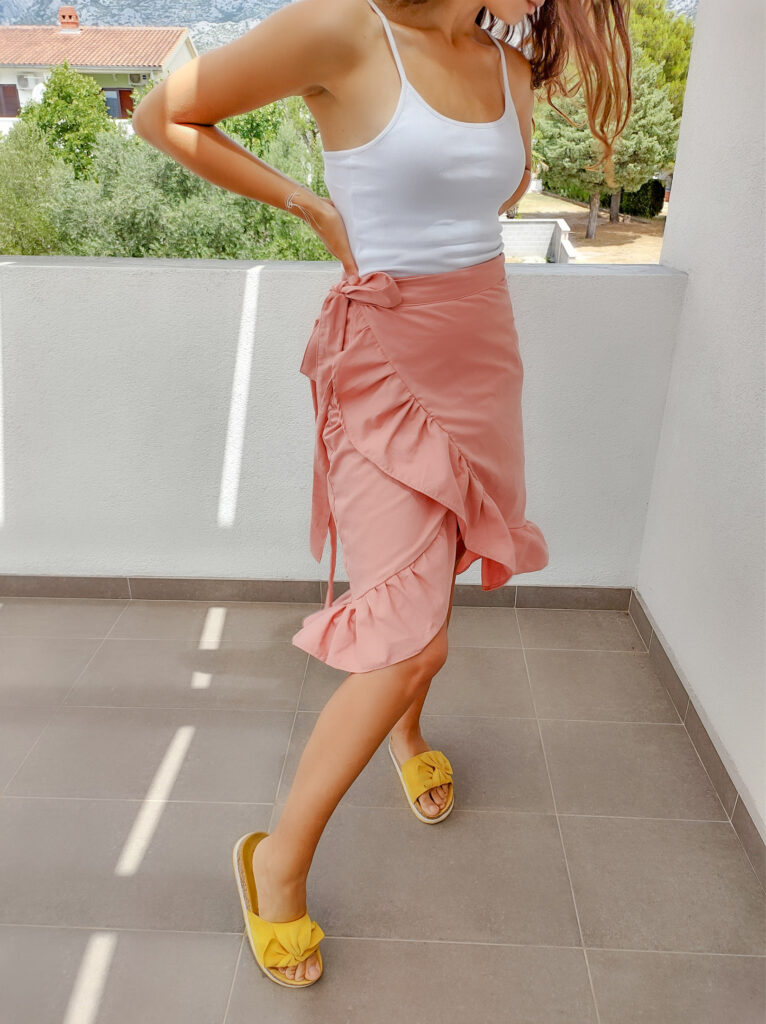 wrap skirt suknja